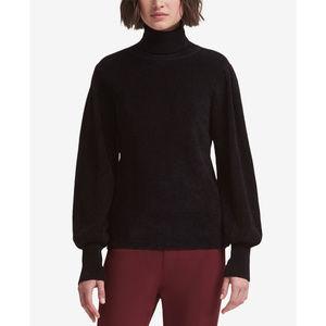 DKNY Blouson-Sleeve Sweater Black M